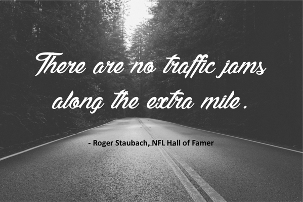 Along the Extra Mile